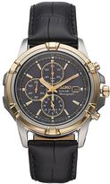 Seiko Men's Leather Solar Chronograph Watch - SSC456