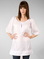 Eyelet Border Camile Blouse in White