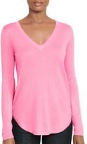 Lauren Ralph Lauren V-Neck High Low Sweater