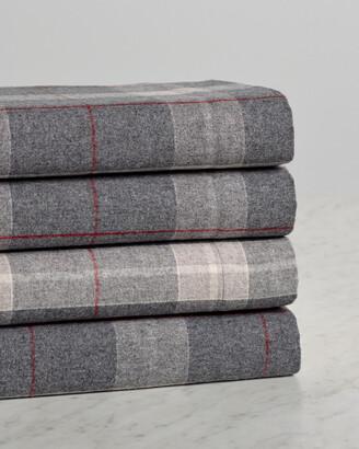 Belle Epoque Heathered Plaid Flannel Sheet Set