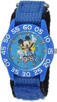 Disney Boy's 'Mickey Mouse' Quartz Plastic and Nylon Casual Watch, Color: (Model: WDS000218)