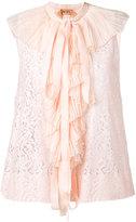 No.21 lace detail top - women - Cotton/Silk/Polyamide - 42