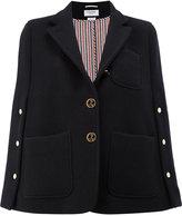 Thom Browne military cape jacket