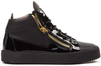 Giuseppe Zanotti Black Leather Kriss Hi-top Sneakers