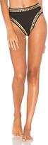Norma Kamali Stud Bikini Bottom in Black. - size M (also in )