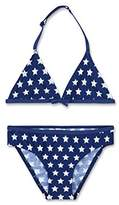 Sanetta Girl's 440399 Bikini, Blue