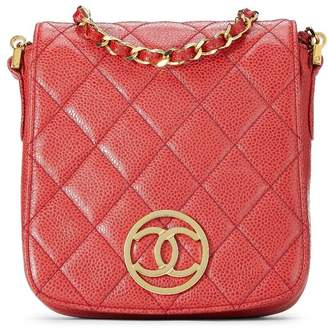 Chanel Red Quilted Caviar Full Flap Crossbody
