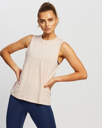 Nimble Activewear Women's Neutrals Muscle Tops - Lifestyle Tank - Size L at The Iconic