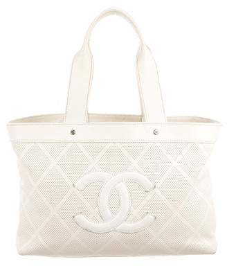 dd32cb3b5ed Cream Quilted Tote - ShopStyle