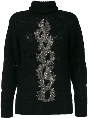 Jo No Fui embellished sweater