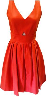 Paule Ka Orange Cotton Dress for Women