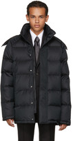 Brioni Black Down Hooded Puffer Jacket