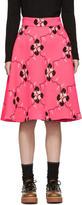 Miu Miu Pink Jacquard Knit Skirt