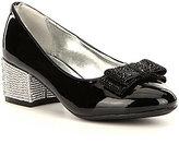 Nina Girls' Gisel Metallic Heel Bow Detail Dress Shoes