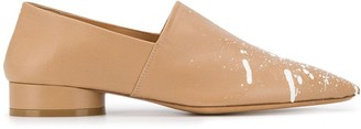 Maison Margiela Paint pointed-toe loafers