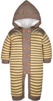 ZOEREA Infant Newborn Baby Romper Sweaters Velvet Knitted Hooded Striped 0-18months