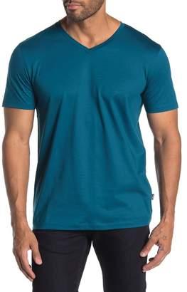 BOSS V-neck Solid T-shirt