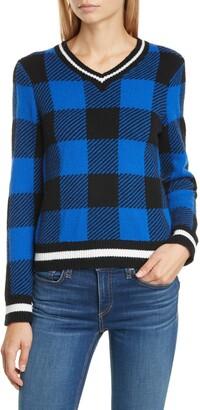 Rag & Bone Gabby Buffalo Check Merino Wool Sweater