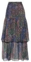 Chloé Ruffled cotton and silk skirt