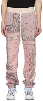 Amiri Pink Bandana Reconstructed Sweatpants