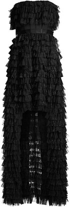 BCBGMAXAZRIA Eve Ruffle Tulle Gown