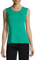 Misook Scoop-Neck Knit Tank, Jade