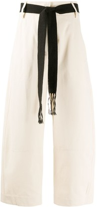 Alysi Embroidered Straight-Leg Trousers
