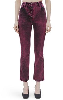 Eckhaus Latta Acid Wash Kick Flare Jeans