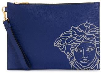 Versace Medusa-print clutch bag