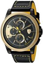 Ferrari Men's 'Formula Italia S' Quartz Stainless Steel and Leather Casual Watch, Color:Black (Model: 0830314)