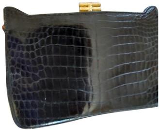 Non Signã© / Unsigned Non SignA / Unsigned Black Crocodile Clutch bags