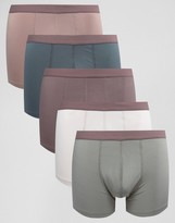 Asos Trunks In Microfibre 5 Pack SAVE