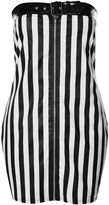 Jaded London **PU Striped Bandeau Dress