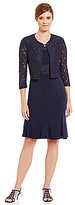 Jessica Howard 2-Piece Boat Neck Lace Swing Jacket Dress