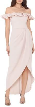 Xscape Evenings Ruffled Midi Dress