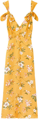 Rebecca Taylor lita tie dress in Marigold floral print - UK10 | yellow - Yellow/Yellow