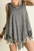 Umgee USA Sleeveless Fringe Top