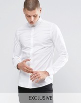 ONLY & SONS Skinny Shirt with Button Down Collar with Stretch