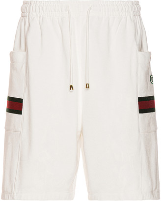 Gucci Shorts in Ivory & Green & Red | FWRD