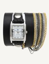 La Mer Black Multichain Wrap Watch.