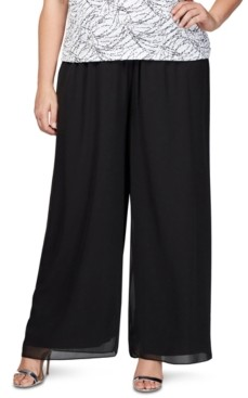 Alex Evenings Plus Size Chiffon Pants