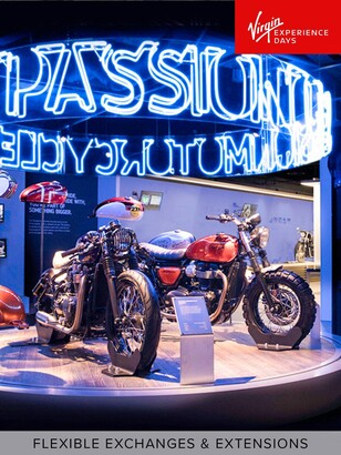 Virgin Experience Days Triumph Motorcycle Factory Tour with Coffee and Cake for Two, Leicestershire