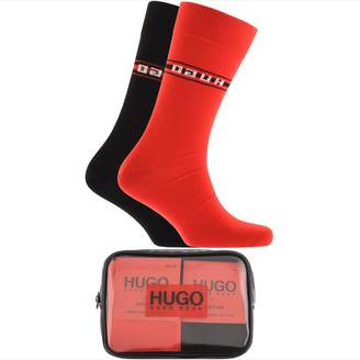 HUGO Double Pack Sock Gift Set Red