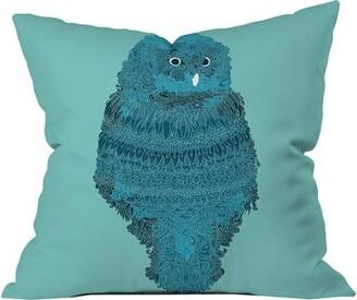 "Deny Designs Martin Bunyi Owl Outdoor Throw Pillow Size: 16"" H x 16"" W x 5"" D"