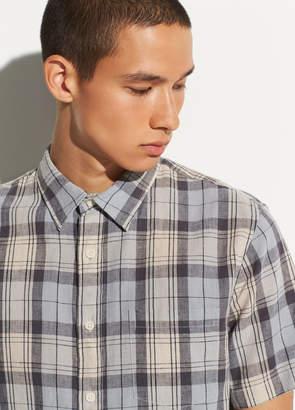 Plaid Linen Short Sleeve