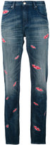 Each X Other lips print boyfriend jeans - women - Cotton/Spandex/Elastane - 27
