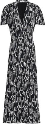 Equipment Gaetan Printed Washed-crepe Maxi Dress