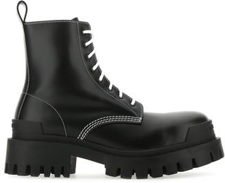 Balenciaga Strike Lace Up Boots