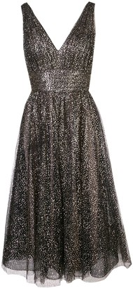 Marchesa sequinned V-neck gown