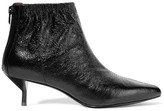 3.1 Phillip Lim Blitz Ruched Textured-leather Ankle Boots - Black